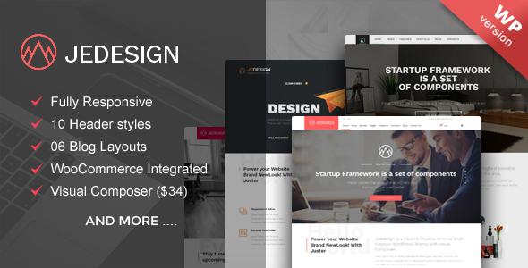 Download Jedesign multipurpose WordPress theme nulled download