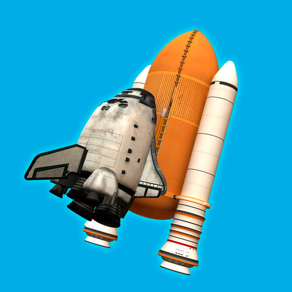 Toon Space Shuttle - 3DOcean Item for Sale