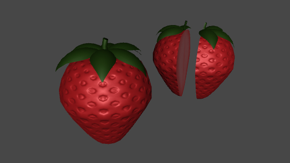 3DOcean Low Poly Strawberry For Games 16349145