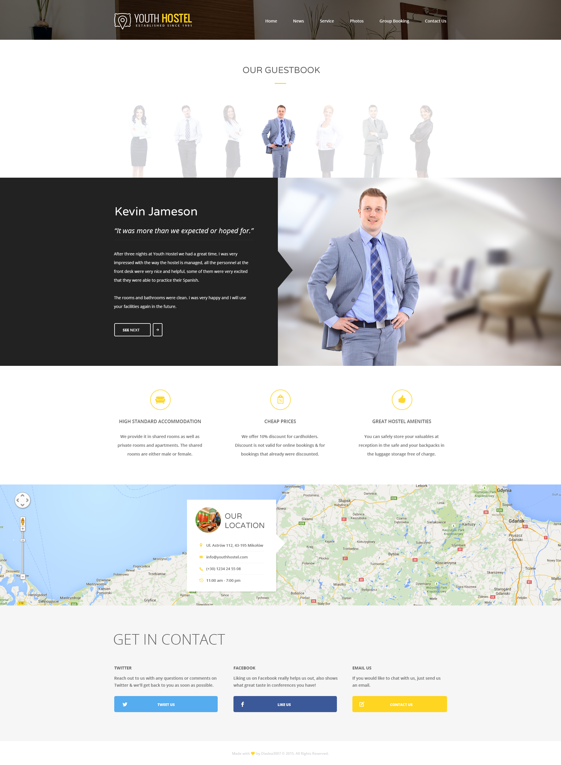 youth hostel travel hotel html template by themesoverflow 24 guestbook single owner jpg