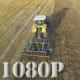 Flying over Wheat Field Harvester 2