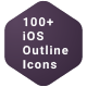100+ iOS Outline Icons Pack