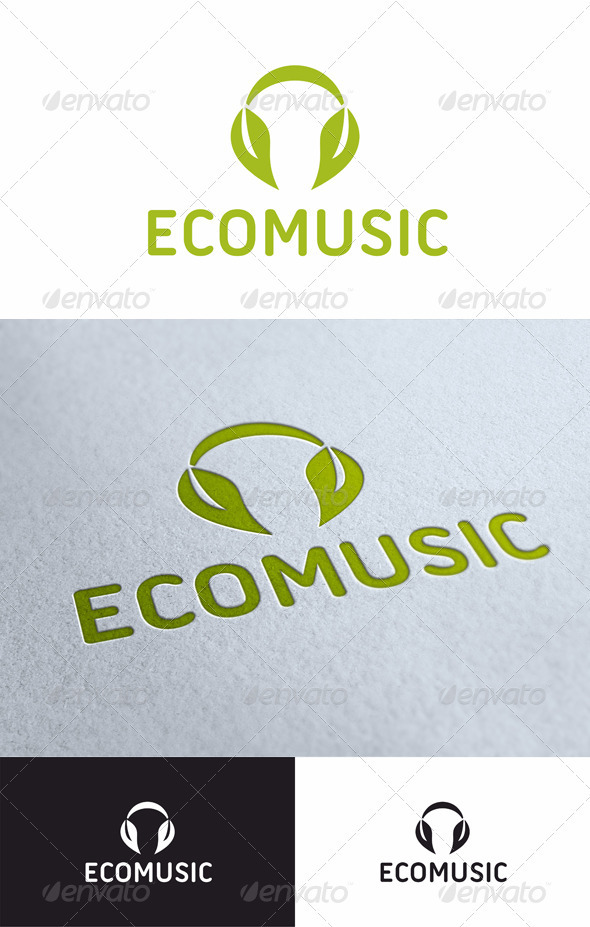 Ecomusic - Nature Logo Templates