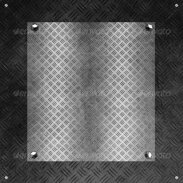 GraphicRiver Hi-Res Tileable Metal Plate with Distressed Cover 63900