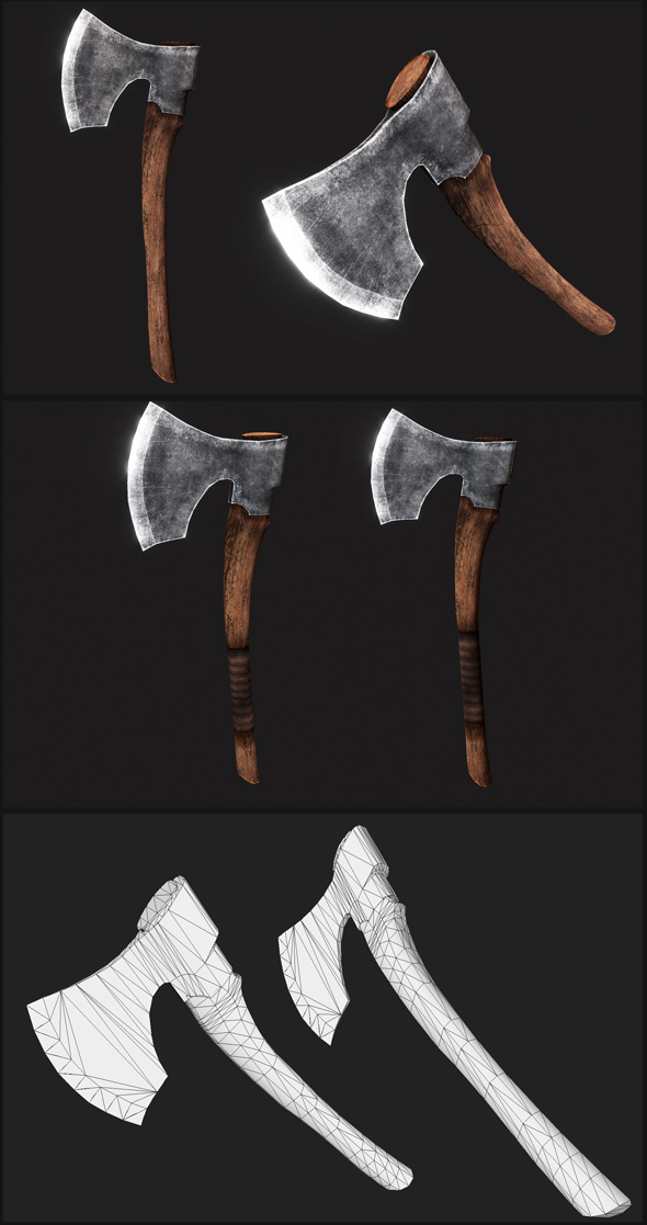 Baltic Broad Axes - 3DOcean Item for Sale