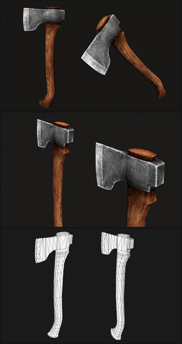 Baltic Carpenter Axe - 3DOcean Item for Sale
