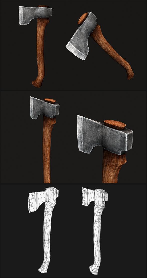 Baltic Carpenter Axe - 3DOcean Item for Sale