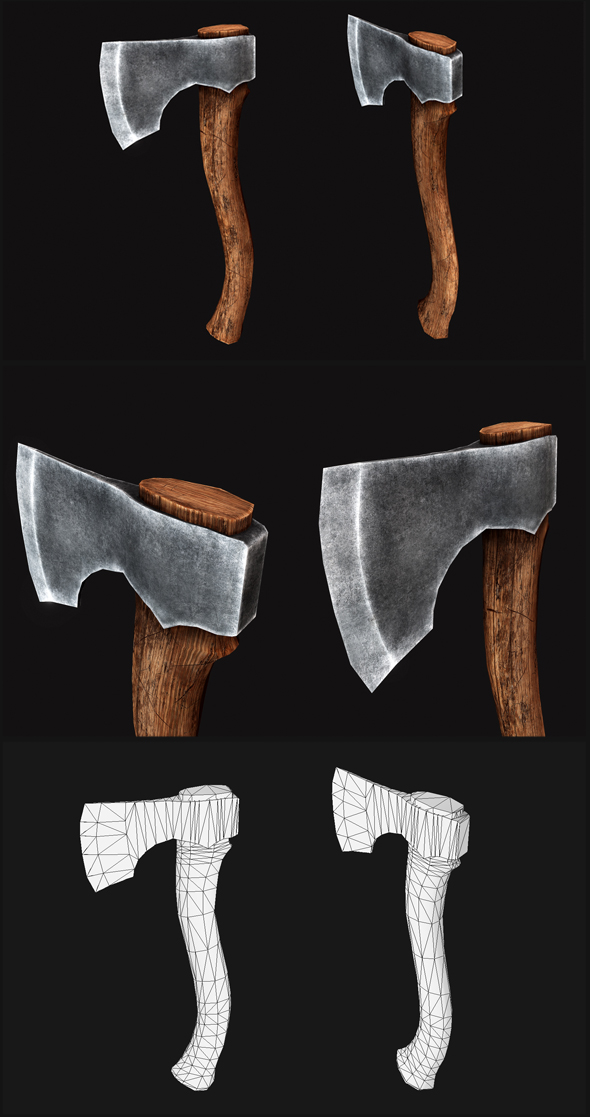 Northlander Hatchet - 3DOcean Item for Sale