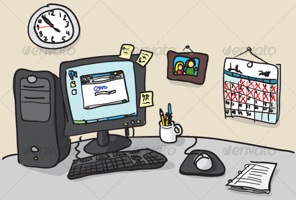 GraphicRiver Hand-drawn Desk Illustration 63931