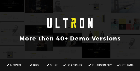 ultron preview.  large preview - Ultron - Responsive Multipurpose Joomla Template