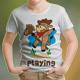 Cow Playing Kids T-Shirt