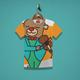 Bear with Violin Kids T-Shirt