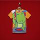 DJ Dino Kids T-Shirt Design