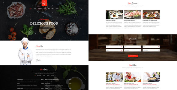 Cafe Resto - Restaurant Psd Template