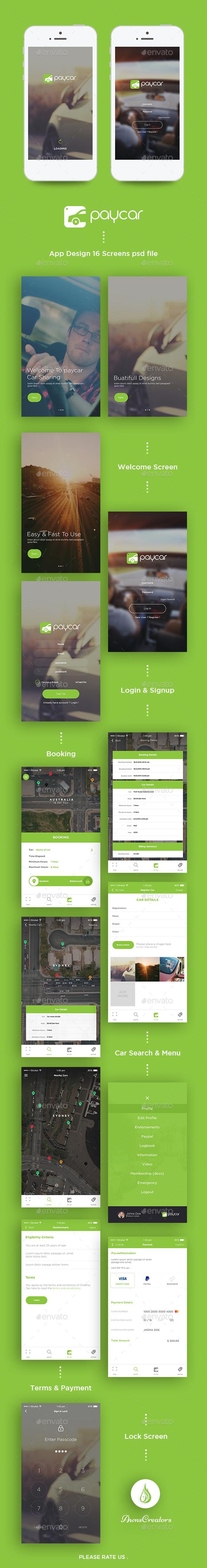 Paycar App UI Kit (User Interfaces)