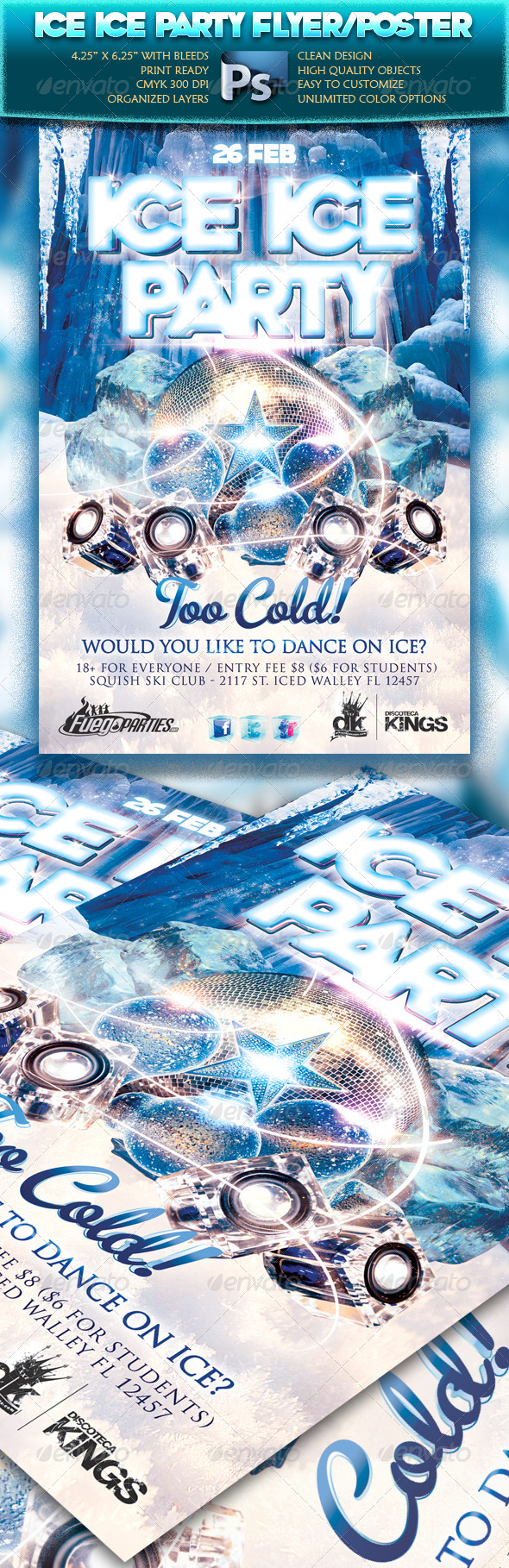 Ice Ice Party Flyer - Clubs & Parties Events