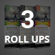 Bundle of 3 Business Roll up Banners