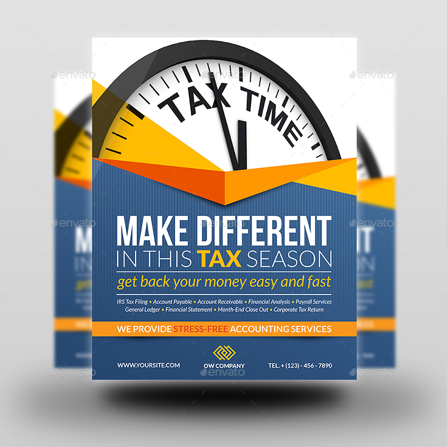 Tax and Accounting Flyer Template by OWPictures   GraphicRiver