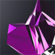 Glitchy Crystal Logo 4