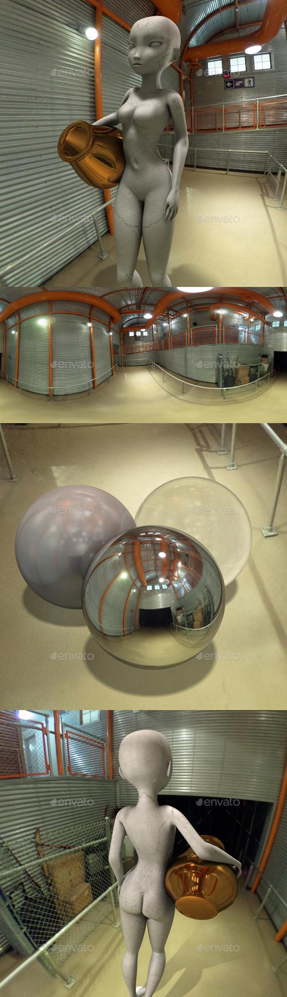 Industrial Metal Interior HDRI - 3DOcean Item for Sale