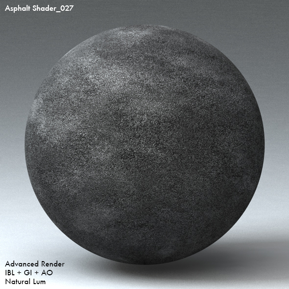 Asphalt Shader_027 - 3DOcean Item for Sale