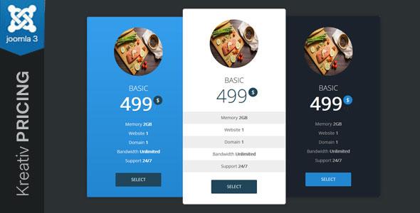 Kreativ Pricing - Joomla Pricing Table Module