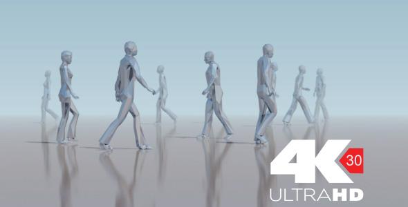 Ihmiset ihmisjoukkojen Tausta - 3D, Object Taustat Motion Graphics