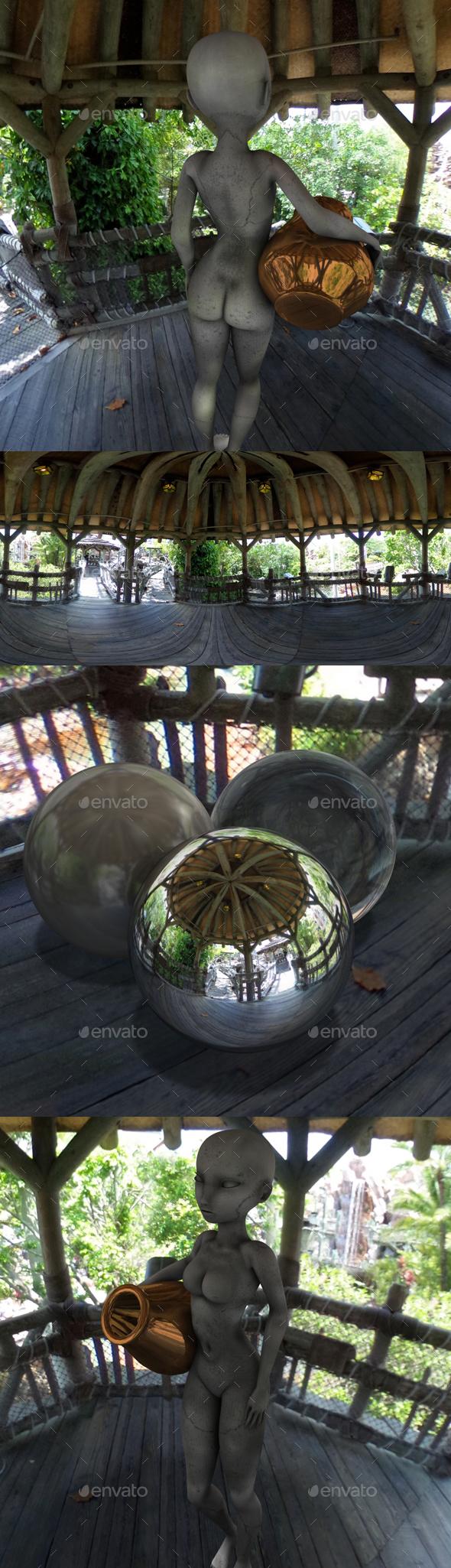 Jungle Hut Outlook HDRI - 3DOcean Item for Sale