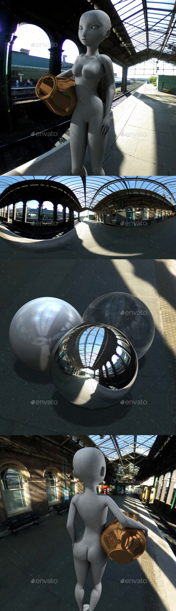 Sunny Afternoon Train Station HDRI - 3DOcean Item for Sale