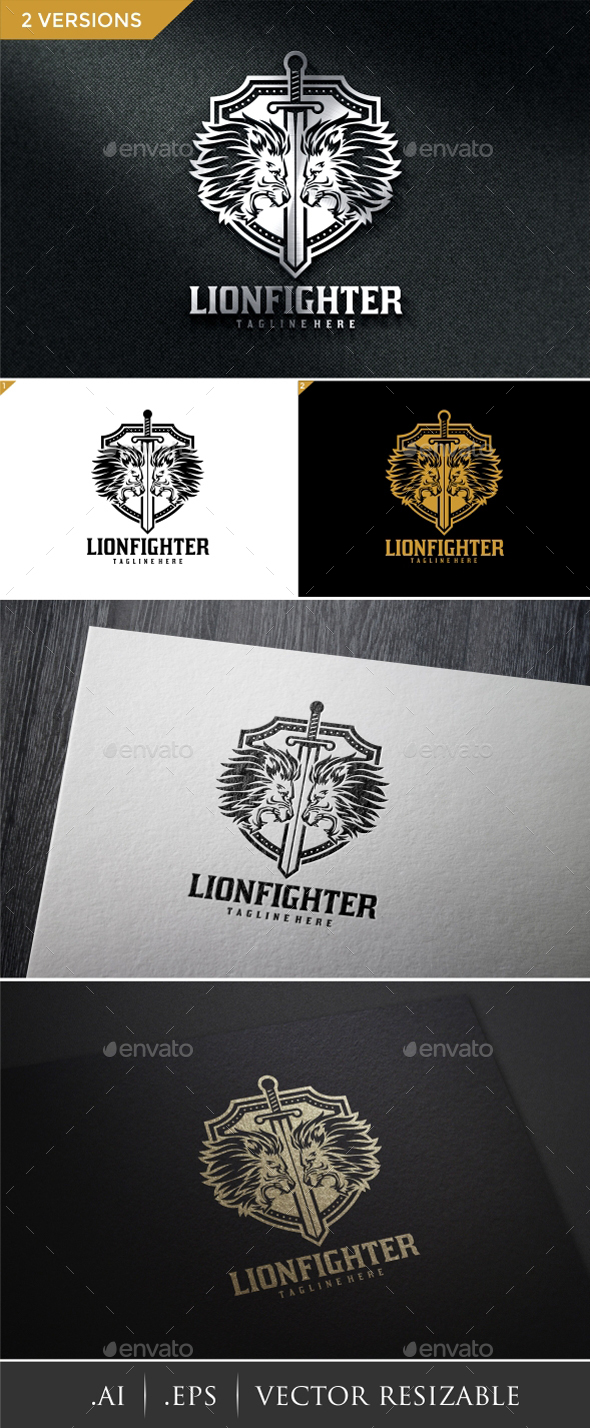 Lion Fighter Logo