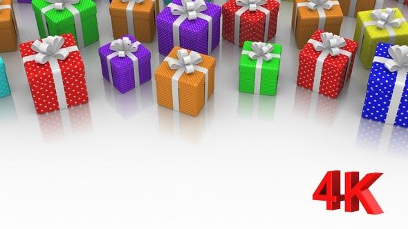Animated Gift Laatikot - 3D, Object Taustat Motion Graphics
