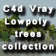 Cinema 4d Vray 21 low poly trees with realistic animation