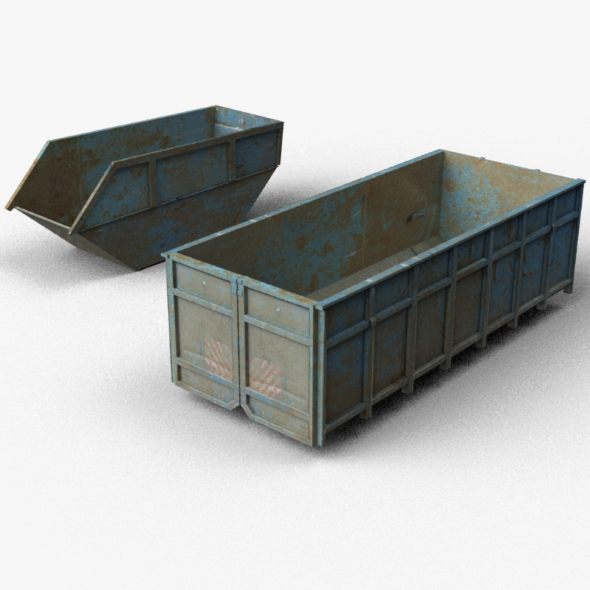 Trash containers - 3DOcean Item for Sale