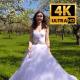 Bride Walks In The Garden 2