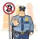 Download Vector Police Prohibits Bitcoin