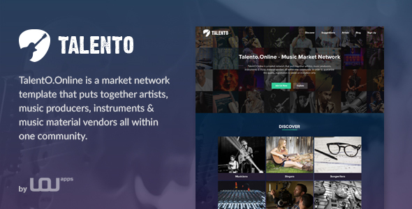 Talento - Music Market Network HTML Template