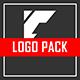Futuristic Glitch Logo Pack