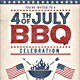 4th of July  /Labor Day BBQ Flyers