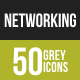 Networking Greyscale Icons