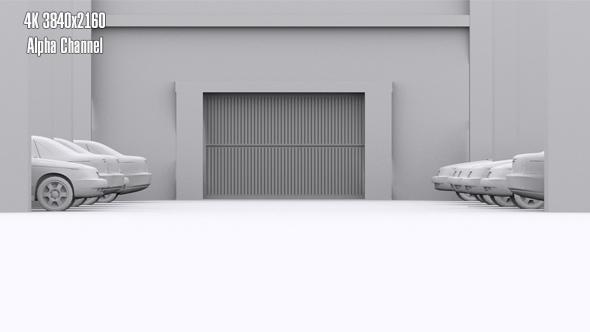 Pysäköinti Door Open - 3D, Object Taustat Motion Graphics