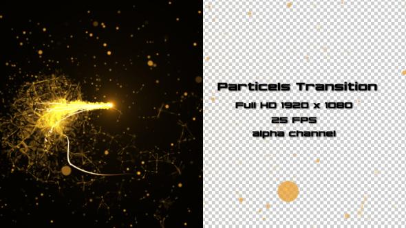 Golden Hiukkaset Transition 3 Pack - Transitions Motion Graphics