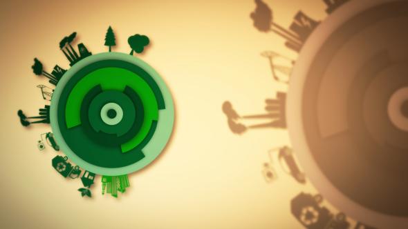 Eco Maailman puhdas tausta - Industrial Taustat Motion Graphics