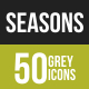 Seasons Greyscale Icons