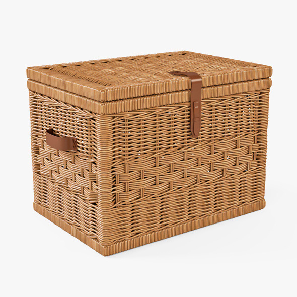 Wicker Storage Trunk 05 (Toasted Oat Color) - 3DOcean Item for Sale