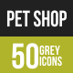 Pet Shop Greyscale Icons