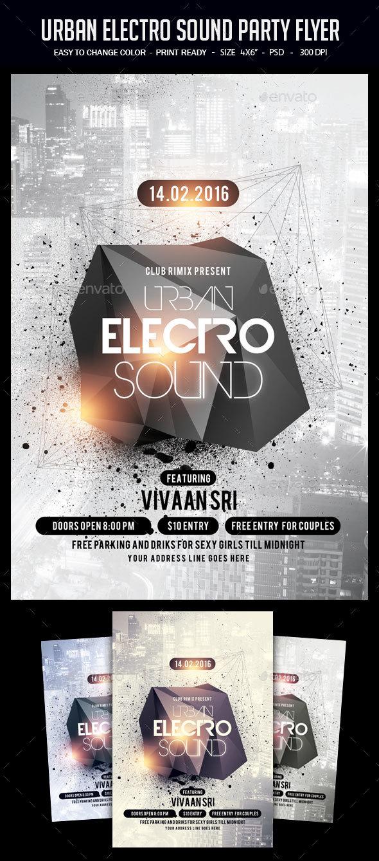 Urban Electro Sound Party Flyer