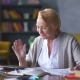 Elderly Woman Worries About Bills
