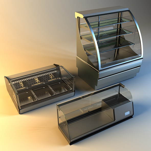 refrigerated display cases - 3DOcean Item for Sale