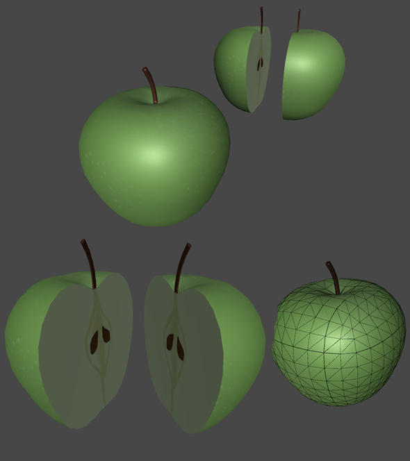 Green Apple for Games - 3DOcean Item for Sale