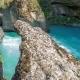 Blue Mountain River In a Canyon Of Aksu, Kazakhstan -